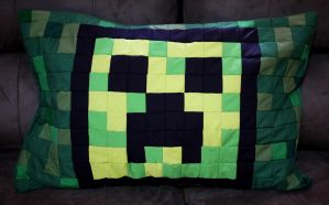 Creeper Pillow Sham by 8bitHealey