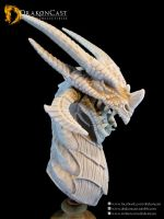 Terror Dragon bust 1 - resin cast by drakoncast