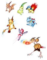 Pokemon sketches by Garmmon