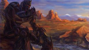 Soundwave in the mountains by darefi