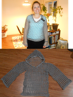 open weave hoodie by Yak-Blithering