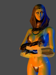 Mass Effect 3 - Tali sexy render by anorexianevrosa