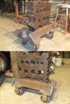 Heavy Duty Roller Stand for my 300lb  Swage Block by BROKENHILL