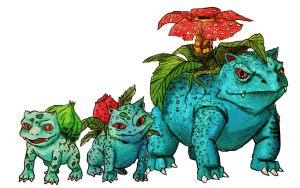 Bulbsaur Family by Mbecks14