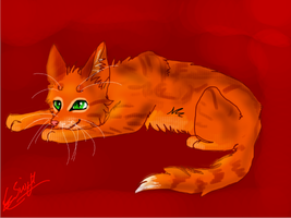Warrior cat challenge 1 - Firestar by TheHomicidalPigeon