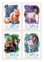 Cat Stamps by Doodlee-a