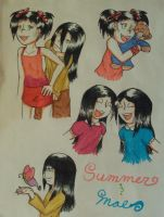 Summer and Mae Mare by n00dle-gurl06