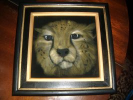 Cheetha pyrography 2 by Pagels