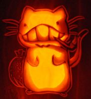 0ssouni the Cat- Quick Carve by SarahKahlan