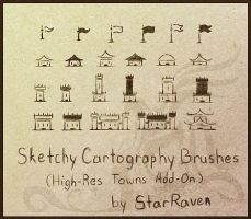 Sketchy Brushes Add-On - Towns by StarRaven
