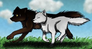 Enthar and Niobe by Quiell