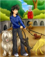 Kagome the Dogtrainer by irishgirl982