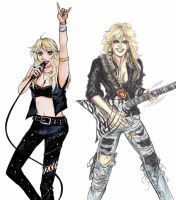 Doro Pesch and Lita Ford collaboration by Mito126