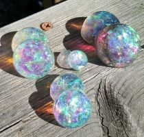 Epoxy opals by JourneytoRevenge