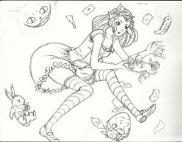 Alice In Wonderland by Arinfea
