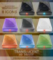 translucent HD drives icons by proenca