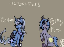 TwiLuna Foals by XRadioactive-FrizzX