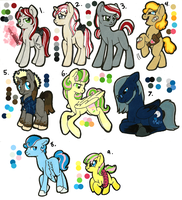 MLP Adoptables: Little-bash babies by Kayla-san