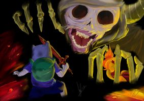 lich kidnapped flame princess!... by chibipainter