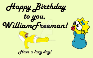 Happy Birthday, WilliamFreeman! by terry12fins24