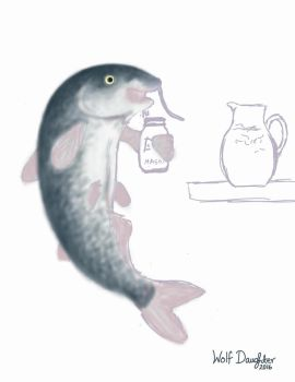 WIP Catfish with Sweet Tea by Wolf-Daughter