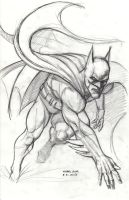 Batman after Neal Adams 8-31-2013 by myconius