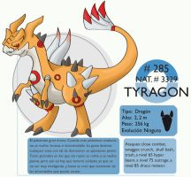 pokemon Oryu 285 Tyragon by shinyscyther