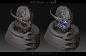 Saren wip 04 by FirstKeeper