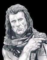 Braveheart Mel Gibson 1 by CHADBOVEY