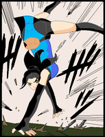 Akemi praticing or fighting by LadyTorment