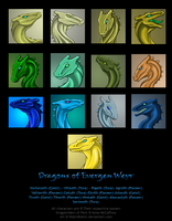 Evergen Weyr Dragons by HybridGeist