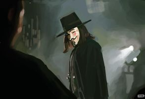 V for Vendetta study! by Paganflow