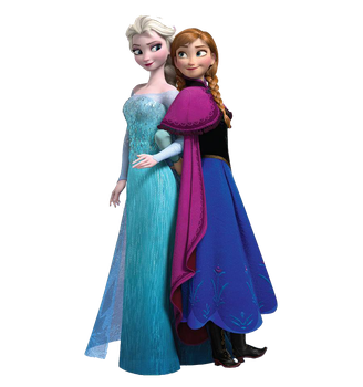 Elsa y Anna PNG by XDrawiSong