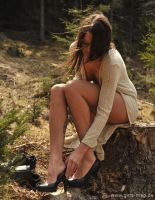 High heels on a stump by Val-Mont