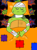 TMNT:: OST: Drawing: Hurt Mikey by Culinary-Alchemist