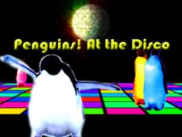 Penguins At the Disco by Robbikins