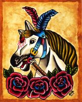 Carousel Horse by Vicki-Death