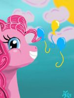 Pinkie Pie in Wonderland by Oregani