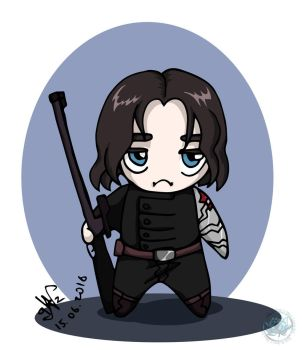 Captain America - Chibi Backy by DeathLawliet