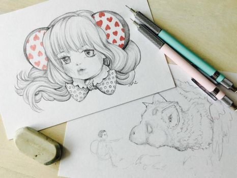 WIP Drawings by camilladerrico