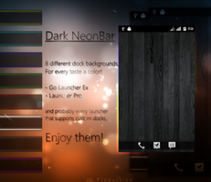 DarkNeonBar Docks for Android by JeanCa