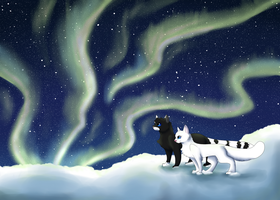 Whitefoot and Snowheart by DaPuddingz