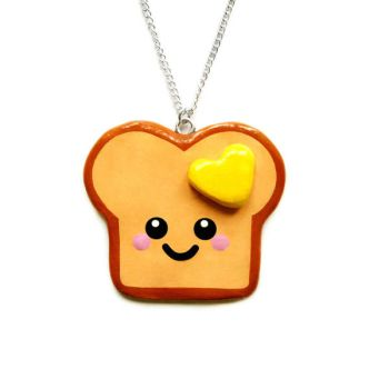 Loved Up Toast Necklace by LittleMissDelicious