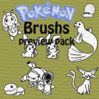 Pokemon Brushes Preview pack by Desicat674