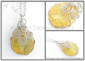 Yellow Swirls by KsenyaDesign