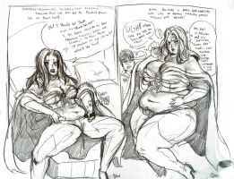 Emma Frost Sequence Commish1+2 by TheAmericanDream