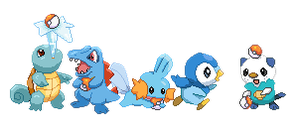 Water Starters by Fade-Away-Requiem