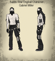 Saints Row OC Character Sheet - Gabriel Miller by TheAjsAx