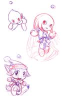 chao pen sketches by V1ciouzMizzAzn