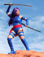 Psylocke Cosplay Valley of Fire by CarolineCosplay